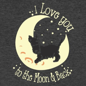 I Love You To The Moon And Back Shirt - Men's V-Neck T-Shirt by Canvas