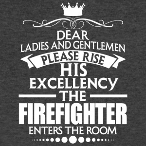 FIREFIGHTER - EXCELLENCY - Men's V-Neck T-Shirt by Canvas