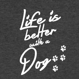 Life is better with a Dog - Men's V-Neck T-Shirt by Canvas