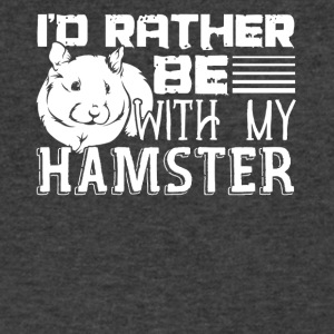 Rather Be With My Hamster Shirt - Men's V-Neck T-Shirt by Canvas