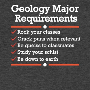 Geology Major Requirements Checklist - Men's V-Neck T-Shirt by Canvas