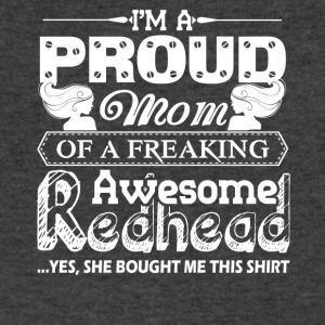 Proud Mom Of A Awesome Redhead Shirts - Men's V-Neck T-Shirt by Canvas