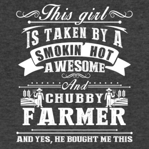 This Girl Is Taken By A Smokin Hot Awesome Farmer - Men's V-Neck T-Shirt by Canvas