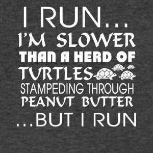 I Run Slower Than A Herd Of Turtles T Shirt - Men's V-Neck T-Shirt by Canvas