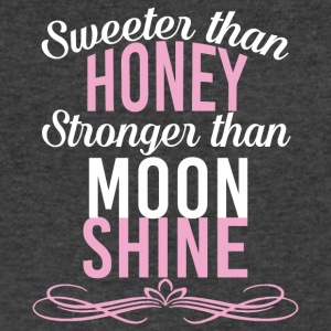 Sweeter Than Honey Stronger Than Moonshine T Shirt - Men's V-Neck T-Shirt by Canvas