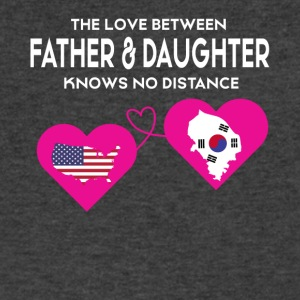 The Love Between Father And Daughter T Shirt - Men's V-Neck T-Shirt by Canvas