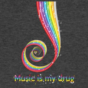 Funny Music is My Drug Tshirt, Music Lovers Gifts - Men's V-Neck T-Shirt by Canvas