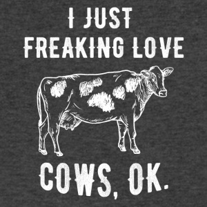 I just freaking love cows - Men's V-Neck T-Shirt by Canvas