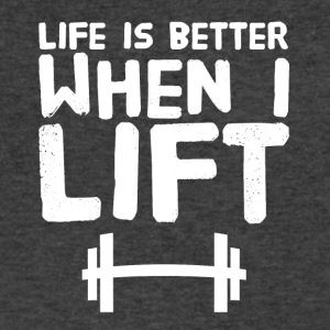 Life is better when I lift - Men's V-Neck T-Shirt by Canvas
