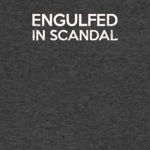 Engulfed In Scandal - Men's V-Neck T-Shirt by Canvas