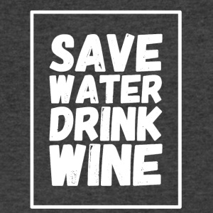 Save water drink wine - Men's V-Neck T-Shirt by Canvas