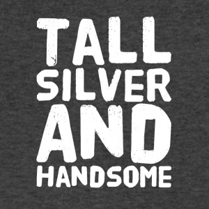 Tall silver and handsome - Men's V-Neck T-Shirt by Canvas