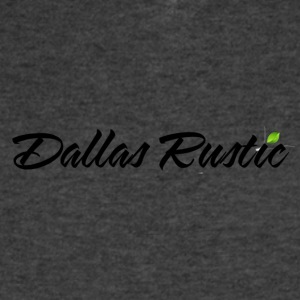 dallas rustic blk - Men's V-Neck T-Shirt by Canvas