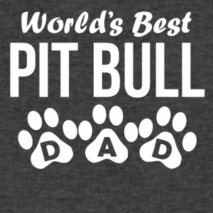 World's Best Pit Bull Dad - Men's V-Neck T-Shirt by Canvas