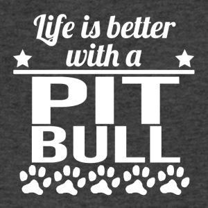 Life Is Better With A Pit Bull - Men's V-Neck T-Shirt by Canvas