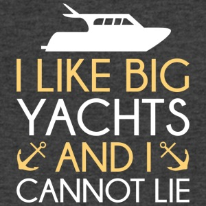 I Like Big Yachts - Men's V-Neck T-Shirt by Canvas