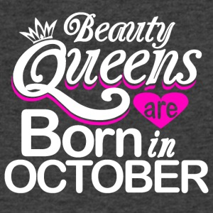 Beauty Queens Born in October - Men's V-Neck T-Shirt by Canvas