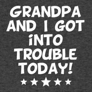 Grandpa And I Got Into Trouble Today - Men's V-Neck T-Shirt by Canvas