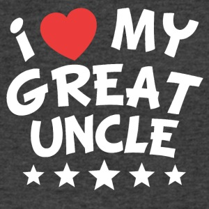 I Heart My Great Uncle - Men's V-Neck T-Shirt by Canvas