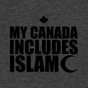 my canada includes islam black - Men's V-Neck T-Shirt by Canvas