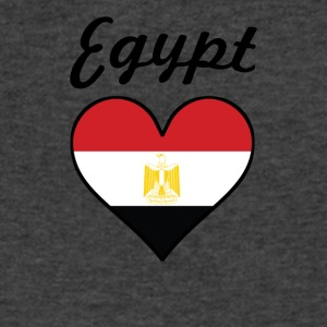 Egypt Flag Heart - Men's V-Neck T-Shirt by Canvas