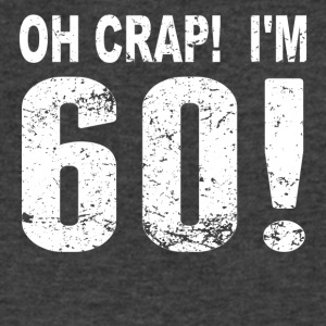 Oh Crap! I'm 60! 60th Birthday - Men's V-Neck T-Shirt by Canvas
