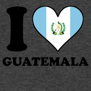 I Love Guatemala Guatemalan Flag Heart - Men's V-Neck T-Shirt by Canvas