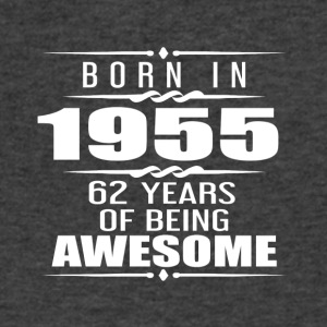 Born in 1955 62 Years of Being Awesome - Men's V-Neck T-Shirt by Canvas