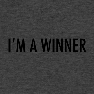 im a winner - Men's V-Neck T-Shirt by Canvas