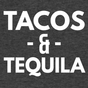 Tacos and tequila - Men's V-Neck T-Shirt by Canvas