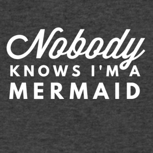 Nobody knows I'm a mermaid - Men's V-Neck T-Shirt by Canvas