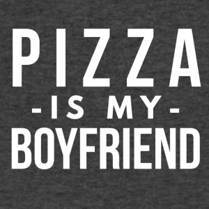 Pizza is my boyfriend - Men's V-Neck T-Shirt by Canvas