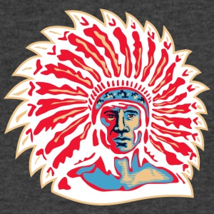 red_plumage_indian_chief_white - Men's V-Neck T-Shirt by Canvas