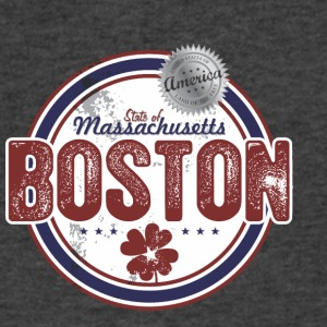 BOSTON MASS T-SHIRT - Men's V-Neck T-Shirt by Canvas