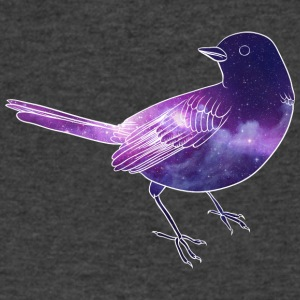 Galaxy in bird - Men's V-Neck T-Shirt by Canvas