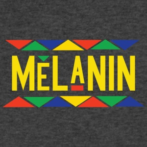 Melanin - Tribal Design (Yellow Letters) - Men's V-Neck T-Shirt by Canvas