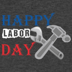 Happy Labor Day - Men's V-Neck T-Shirt by Canvas