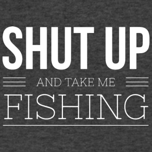 Shut up and take me Fishing - Men's V-Neck T-Shirt by Canvas