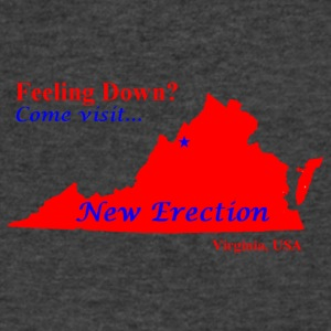 New-Erection - Men's V-Neck T-Shirt by Canvas