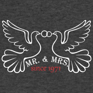 Mr And Mrs Since 1971 Married Marriage Engagement - Men's V-Neck T-Shirt by Canvas