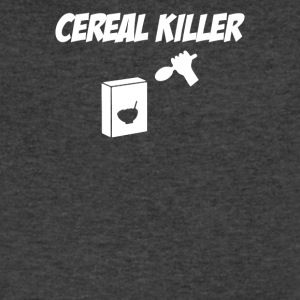 Cereal Killer Spoon At Cereal Box - Men's V-Neck T-Shirt by Canvas