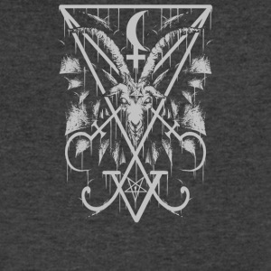 Sigil of Lucifer and Baphomet - Men's V-Neck T-Shirt by Canvas