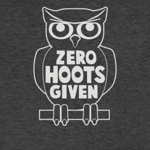 Zero Hoots Given - Men's V-Neck T-Shirt by Canvas