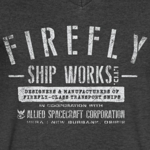 Firefly Shipworks - Men's V-Neck T-Shirt by Canvas