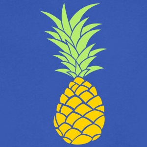 Pineapple - Summertime - two tone - vector - Men's V-Neck T-Shirt by Canvas