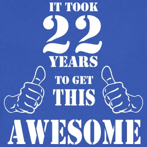 22nd Birthday Get Awesome T Shirt Made in 1995 - Men's V-Neck T-Shirt by Canvas