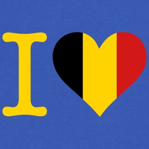 I Love Belgium - Men's V-Neck T-Shirt by Canvas