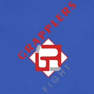 Dynamic 001 grapplersfight LOGO Front - Men's V-Neck T-Shirt by Canvas