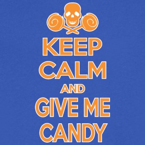 Keep Calm And Give Me Candy Halloween - Men's V-Neck T-Shirt by Canvas