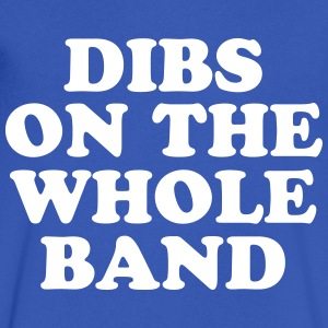 Dibs On The Whole Band - Men's V-Neck T-Shirt by Canvas